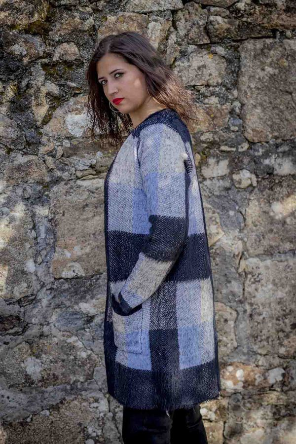 abrigo punto azul negro i95637 banes moda ramallosa nigran p