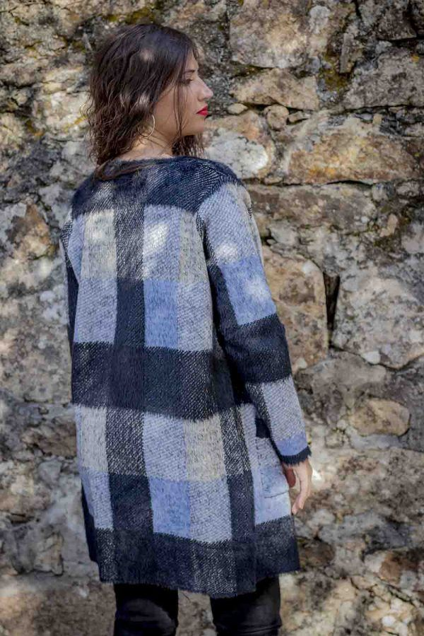 abrigo punto azul negro i95637 banes moda ramallosa nigran t