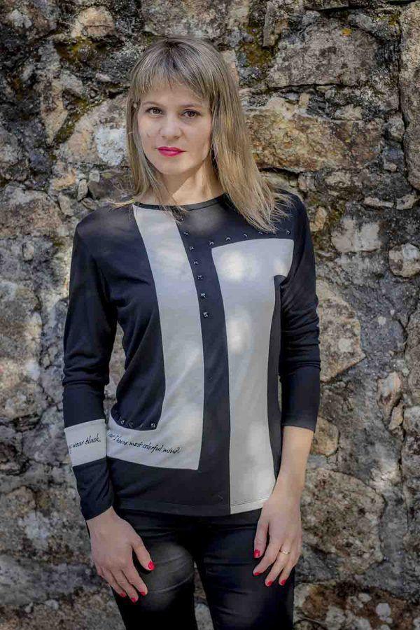 camiseta blanco y negro alba conde i96808 banes moda ramallosa nigran f