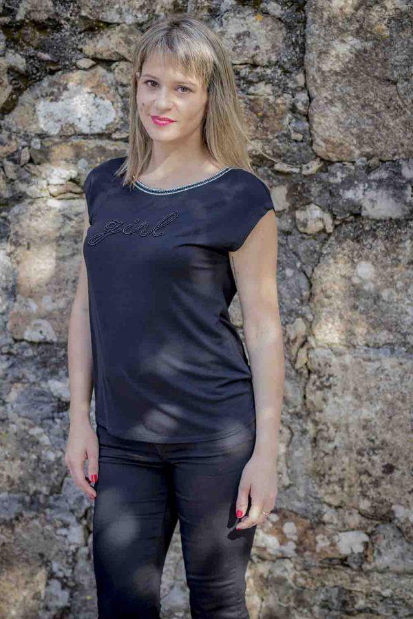 camiseta girl naf naf i9lhnt31 banes moda ramallosa nigran f