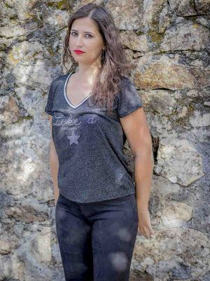 camiseta like a star naf naf i9lhnt30 banes moda ramallosa nigran f