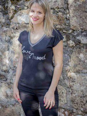 camiseta love mood naf naf i9lhnt42d banes moda ramallosa nigran f