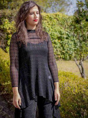 casaca tul negro i9130920 banes moda ramallosa nigran f