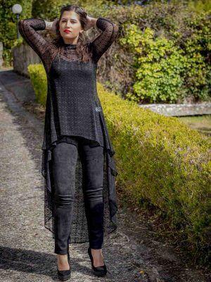 casaca tul negro i9130920 banes moda ramallosa nigran f1