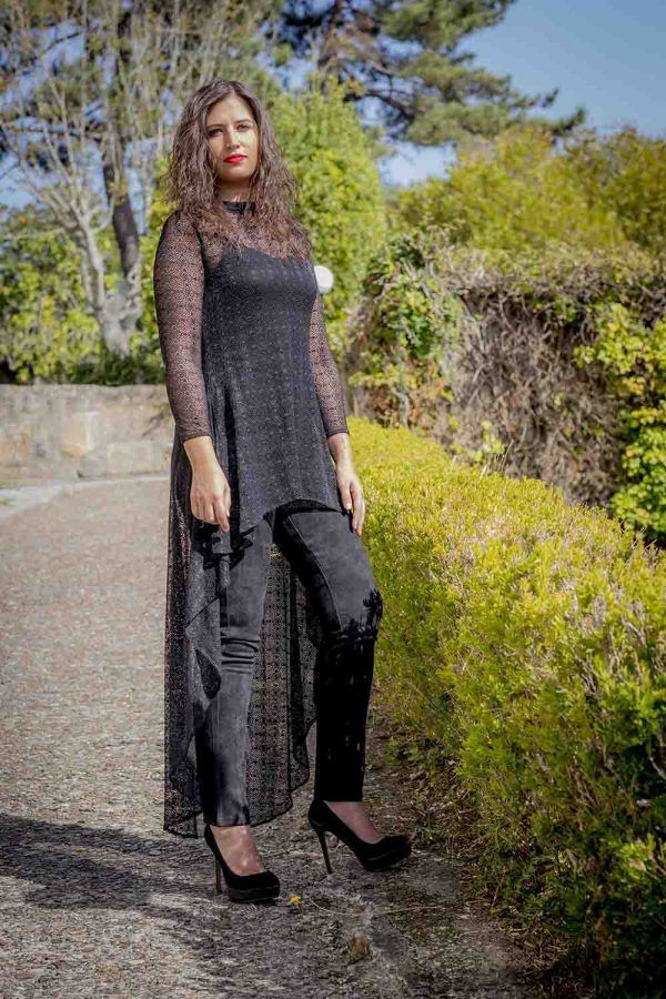 casaca tul negro i9130920 banes moda ramallosa nigran p