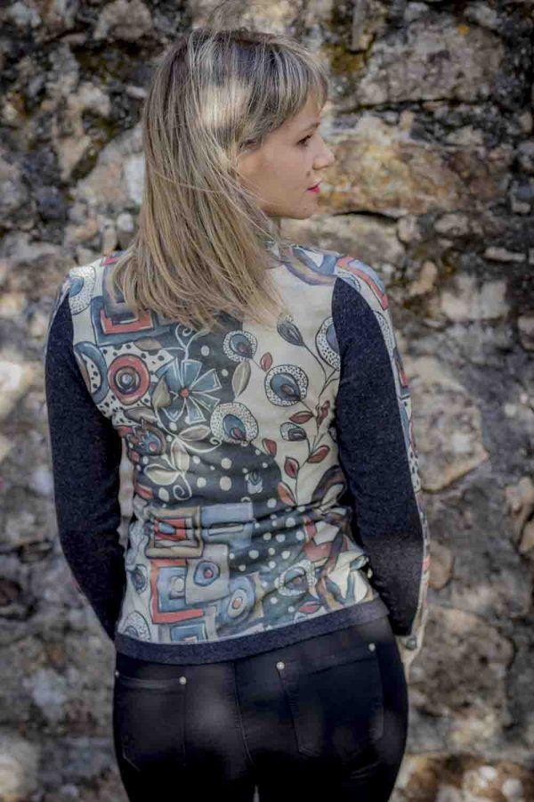 chaqueta pop art cremallera i912lva banes moda ramallosa nigran t
