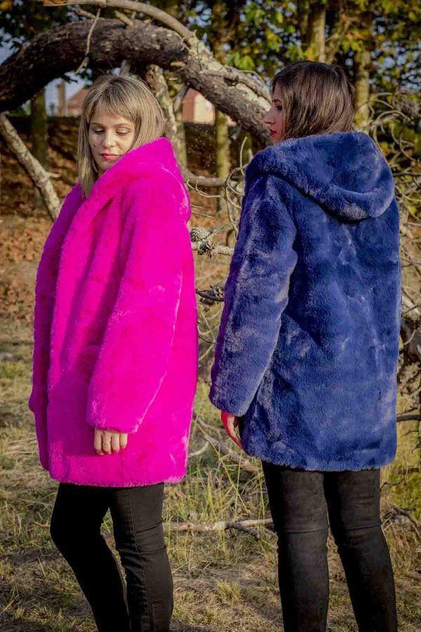 chaqueton pelo fantasia azul o fucsia i9a985002 banes moda ramallosa nigran t