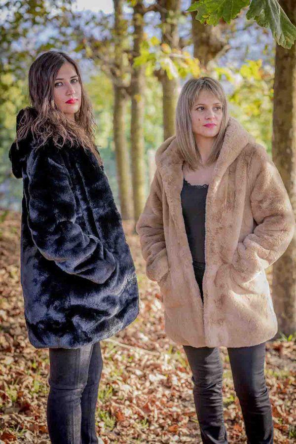 chaqueton pelo fantasia negro o camel i9a985002 banes moda ramallosa nigran p