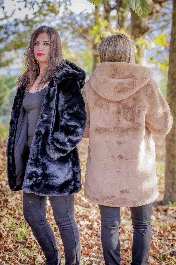chaqueton pelo fantasia negro o camel i9a985002 banes moda ramallosa nigran t