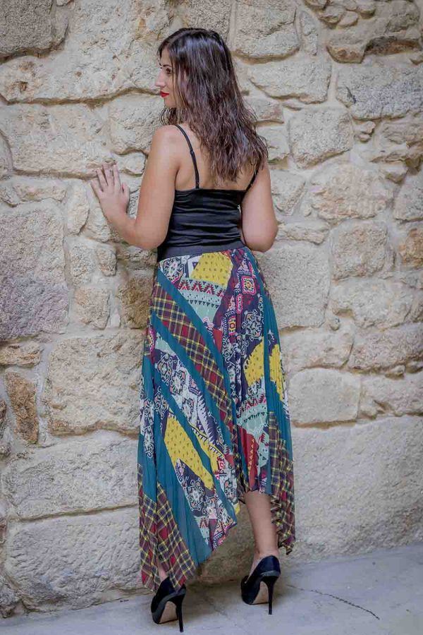 falda larga patch work i9a950032 banes moda ramallosa nigran t