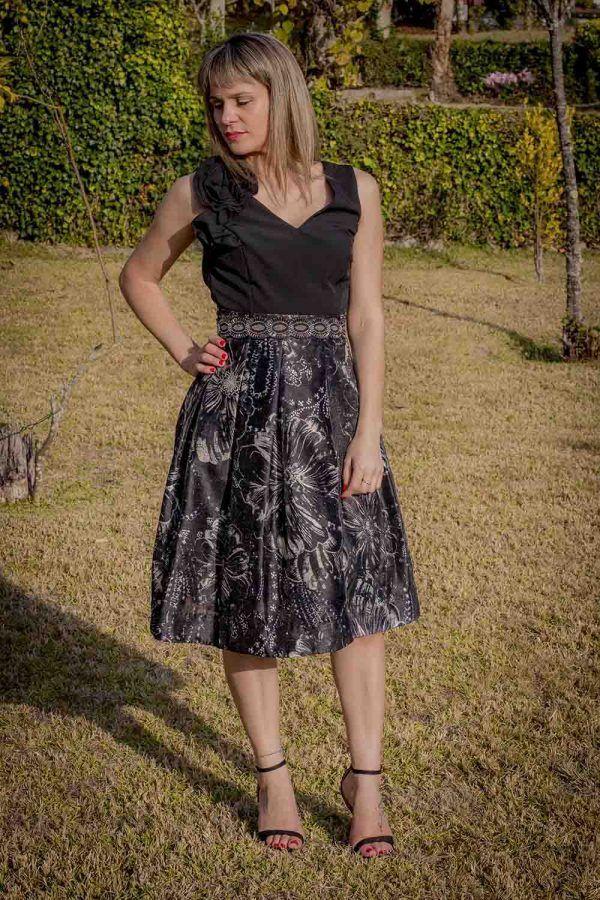 falda midi coctel i9a95007 banes moda ramallosa nigran f