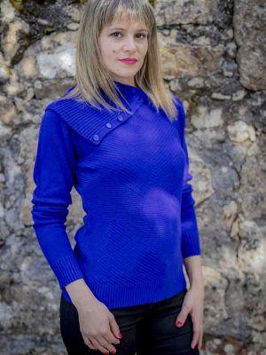 jersey azul maxi cuello i9940013 banes moda ramallosa nigran f