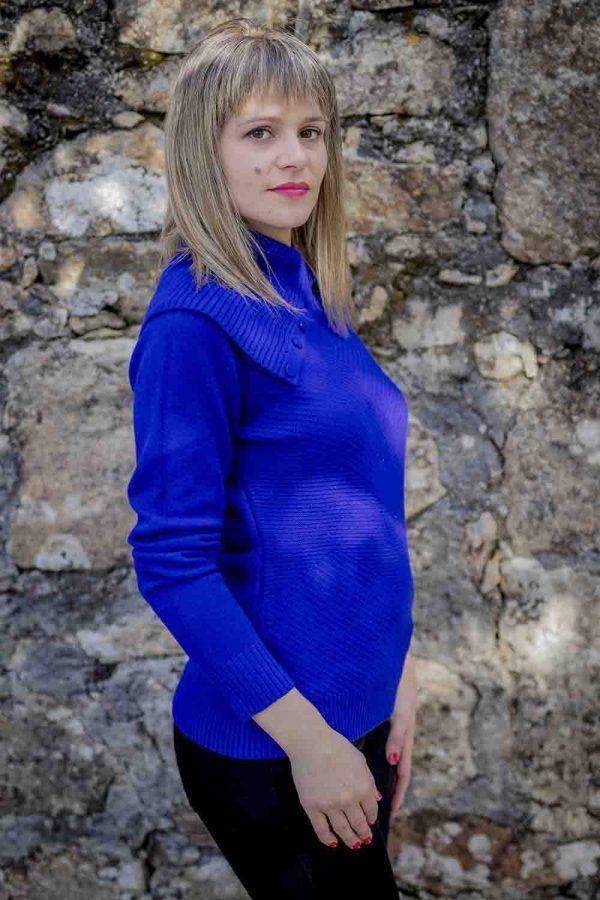 jersey azul maxi cuello i9940013 banes moda ramallosa nigran p