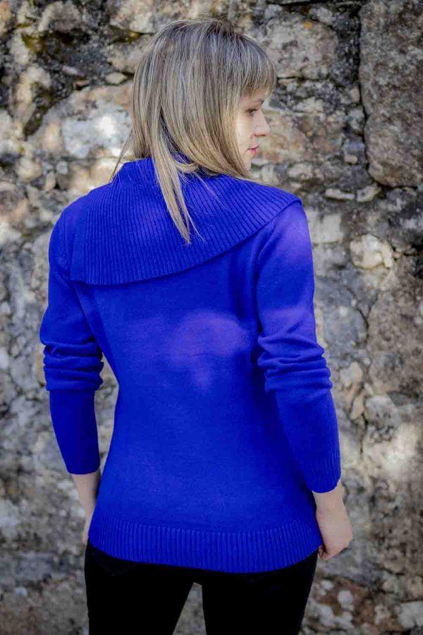 jersey azul maxi cuello i9940013 banes moda ramallosa nigran t