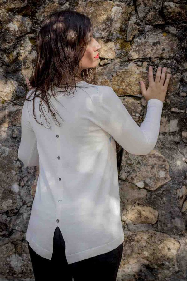 jersey blanco o marino don algodon i9d219052 banes moda ramallosa nigran t
