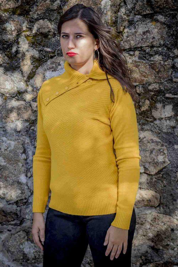jersey mostaza maxi cuello i9940013 banes moda ramallosa nigran f