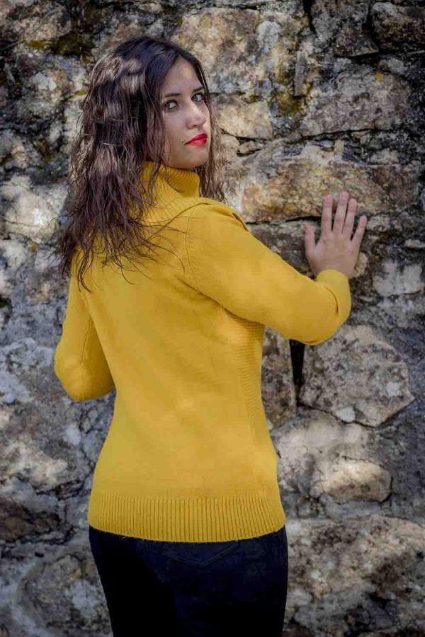 jersey mostaza maxi cuello i9940013 banes moda ramallosa nigran t