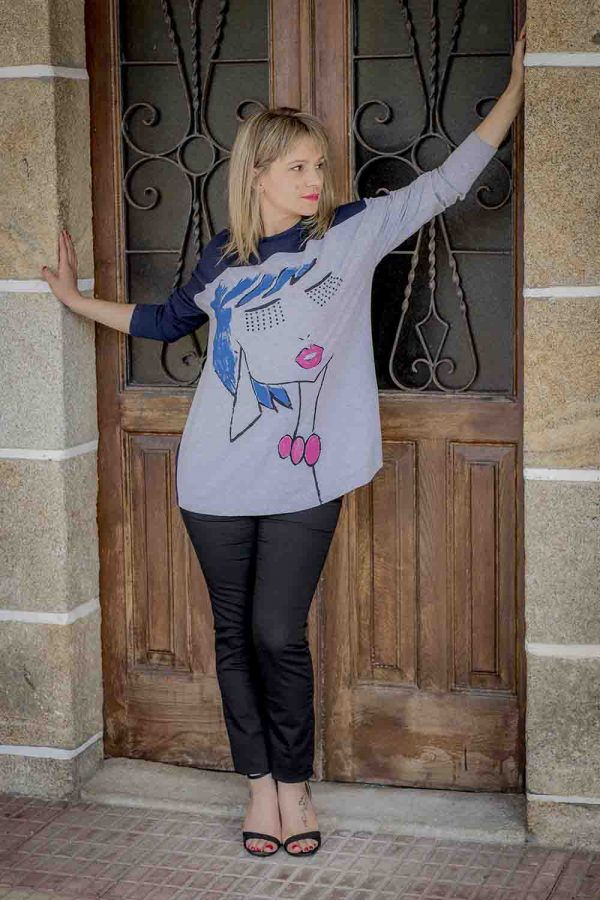 maxi camiseta poupee i929p827 banes moda ramallosa nigran f