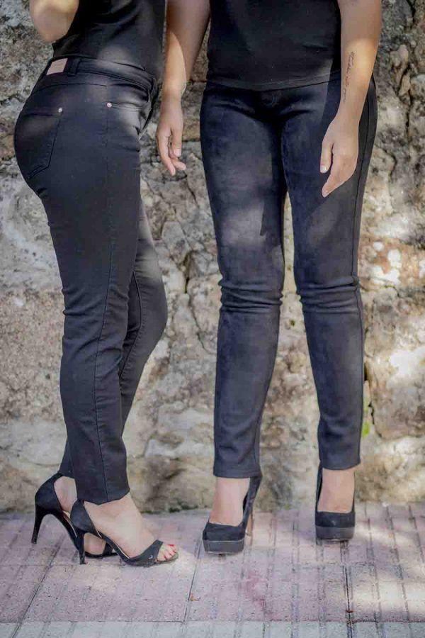 pantalon negro ante i92191 banes moda ramallosa nigran f