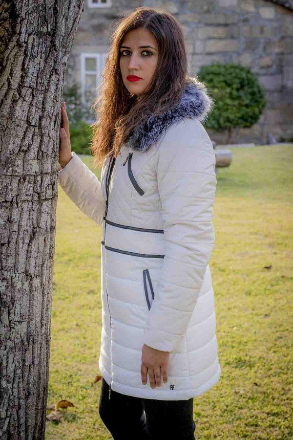 parka larga blanca i99668ebano banes moda ramallosa nigran f