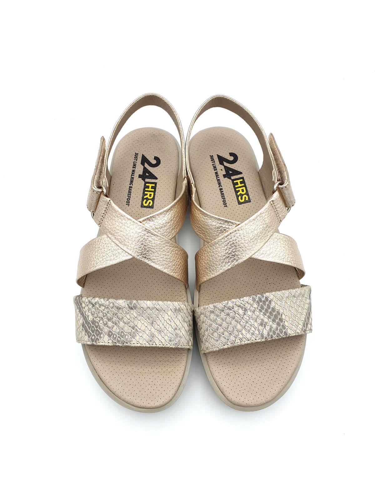 Moda Planas Zapatos De Sandalias Doradas MujerBanes 24hrs wOkn80P