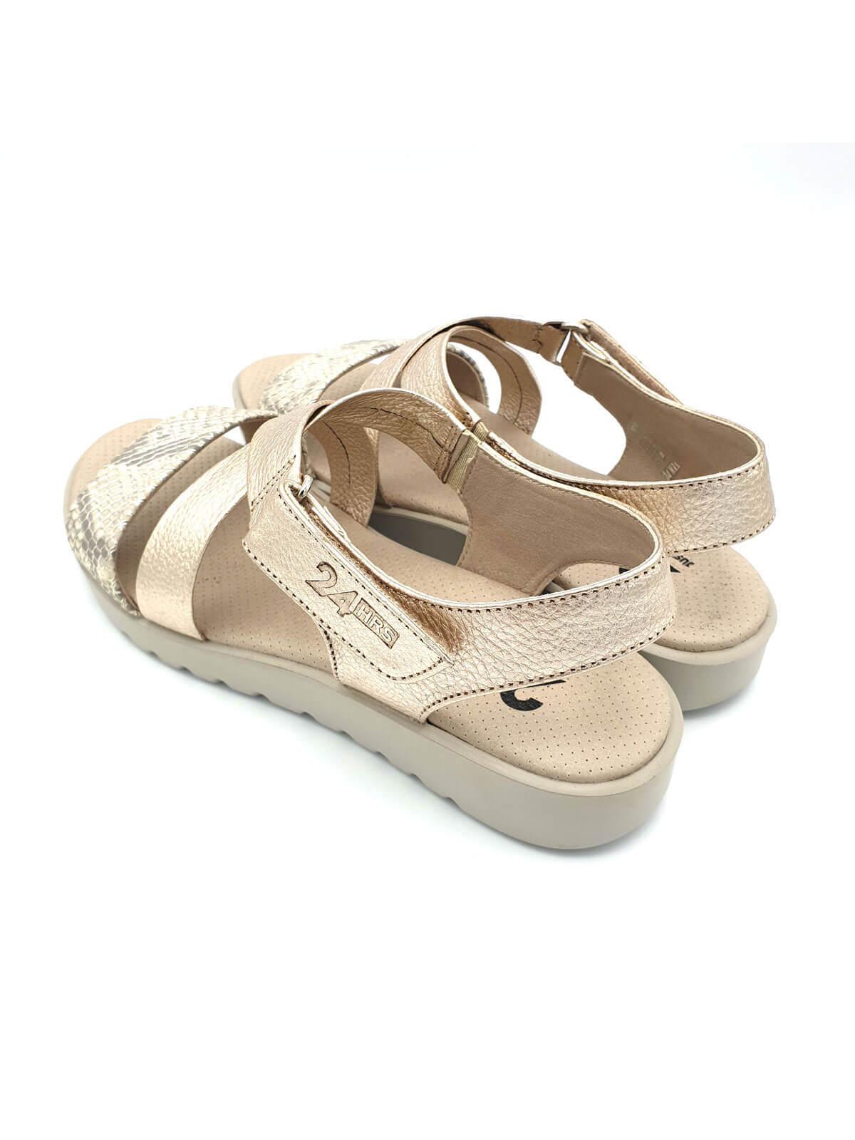 Moda Planas Zapatos Doradas De MujerBanes Sandalias 24hrs nZwO08kXNP