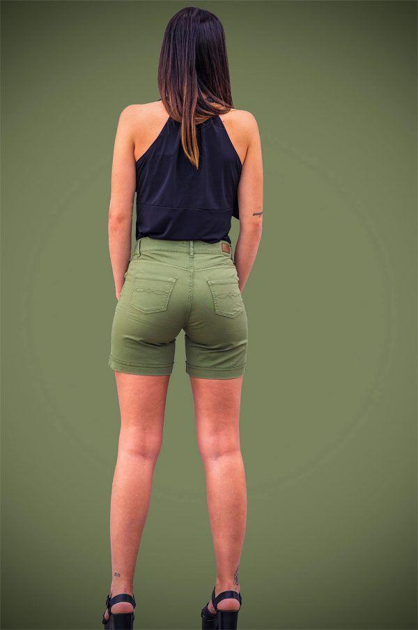 short-algodon-verde-caqui-blanco-banes-moda-ramallosa-nigran-t