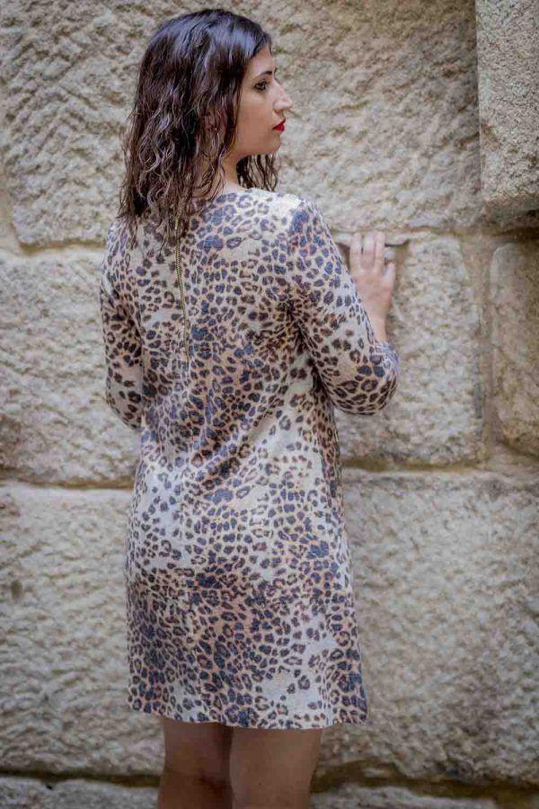 vestido animal print arggido i943195 banes moda ramallosa nigran t
