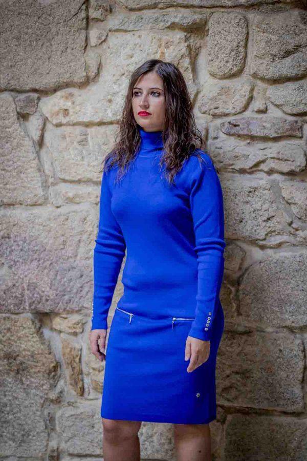 vestido azul electrico i919680 banes moda ramallosa nigran f