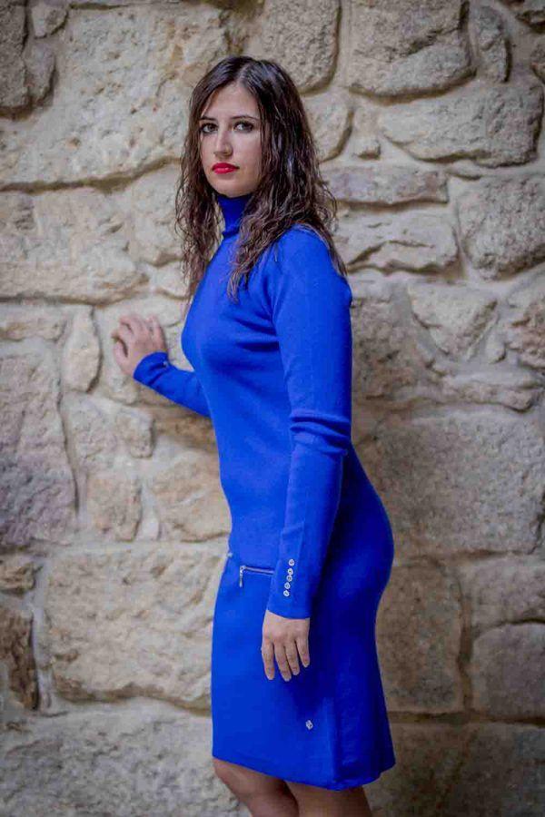 vestido azul electrico i919680 banes moda ramallosa nigran p