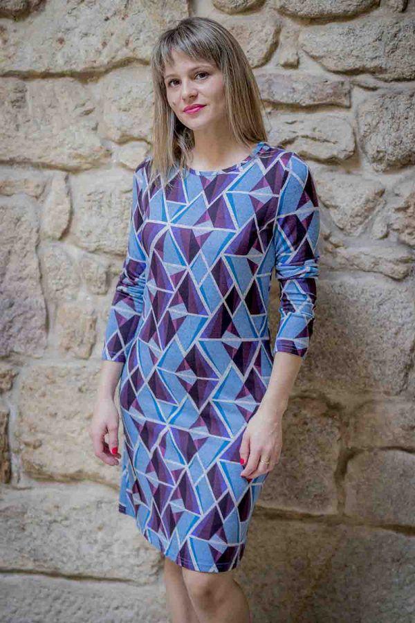vestido azul pop art mdm i975502706 banes moda ramallosa nigran f