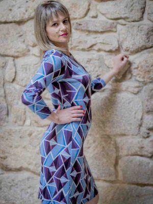 vestido azul pop art mdm i975502706 banes moda ramallosa nigran p