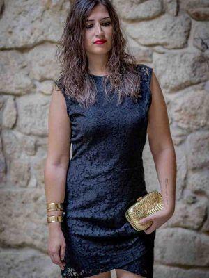 vestido encaje negro i9012046 banes moda ramallosa nigran f