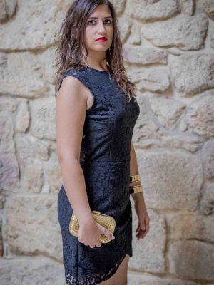 vestido encaje negro i9012046 banes moda ramallosa nigran p