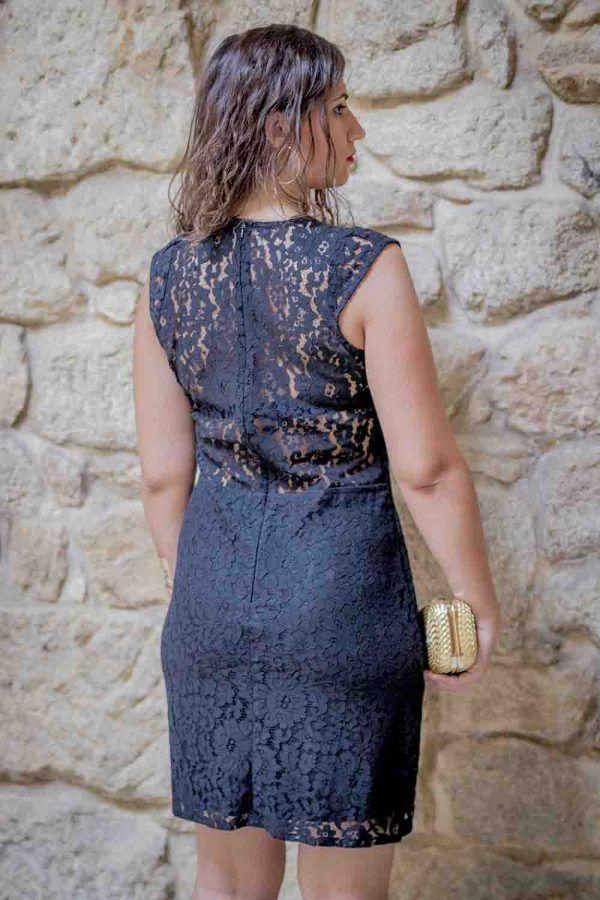 vestido encaje negro i9012046 banes moda ramallosa nigran t