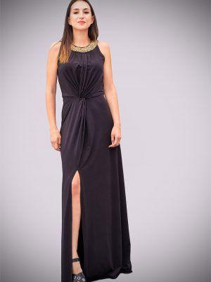 vestido-largo-negro-punto-de-seda-banes-moda-ramallosa-nigran-t