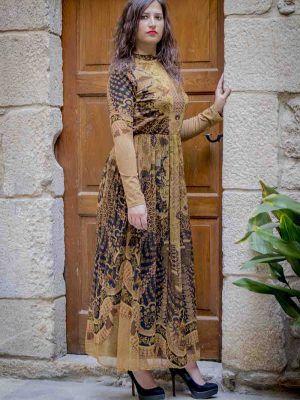 vestido largo romantico i9a910021 banes moda ramallosa nigran f