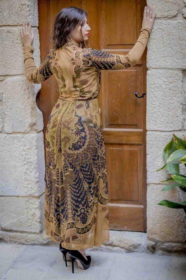 vestido largo romantico i9a910021 banes moda ramallosa nigran t