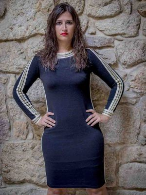 vestido negro arggido i943063 banes moda ramallosa nigran f