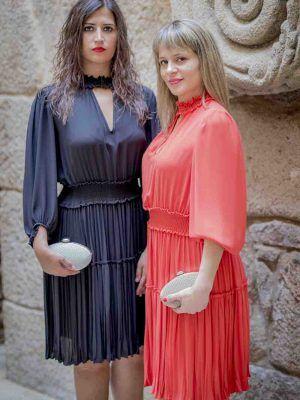 vestido negro o naranja oky i97935 banes moda ramallosa nigran f