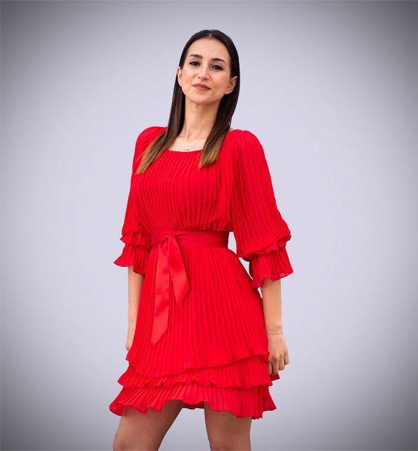 vestido-plisado-rojo-amarillo-manga-larga-banes-moda-ramallosa-nigran-p