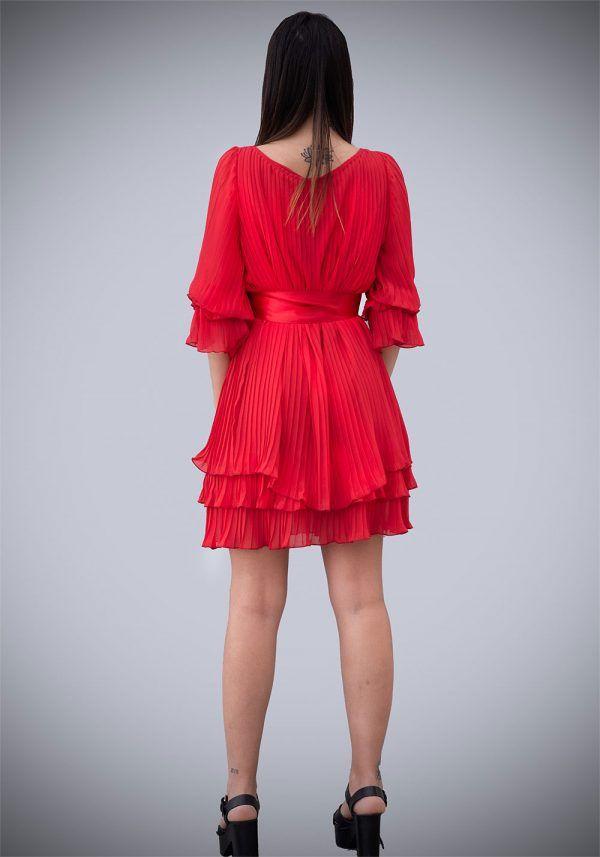 vestido-plisado-rojo-amarillo-manga-larga-banes-moda-ramallosa-nigran-t