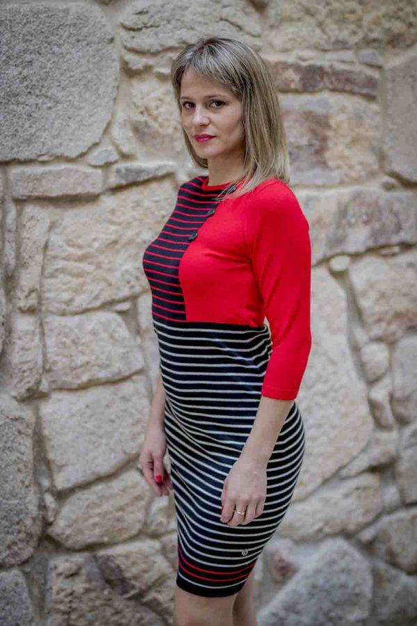 vestido punto rayas i919678 banes moda ramallosa nigran p